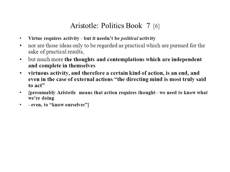 Aristotle: Politics Book 7 [6]